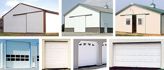 large commercial doors for pole barns