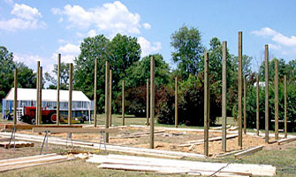 foundation posts for new pole building