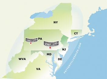 Fetterville map