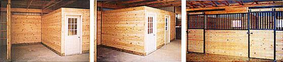 interior of horse barn