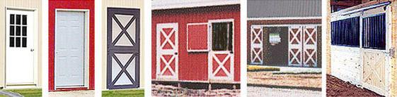 different pole barn doors