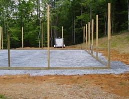 wooden pole frames