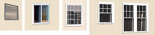 different pole barn windows