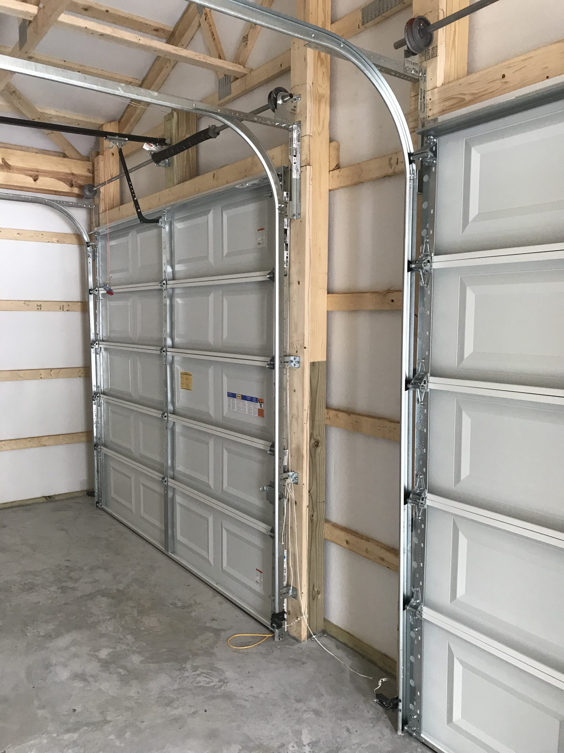 interior of garage doors