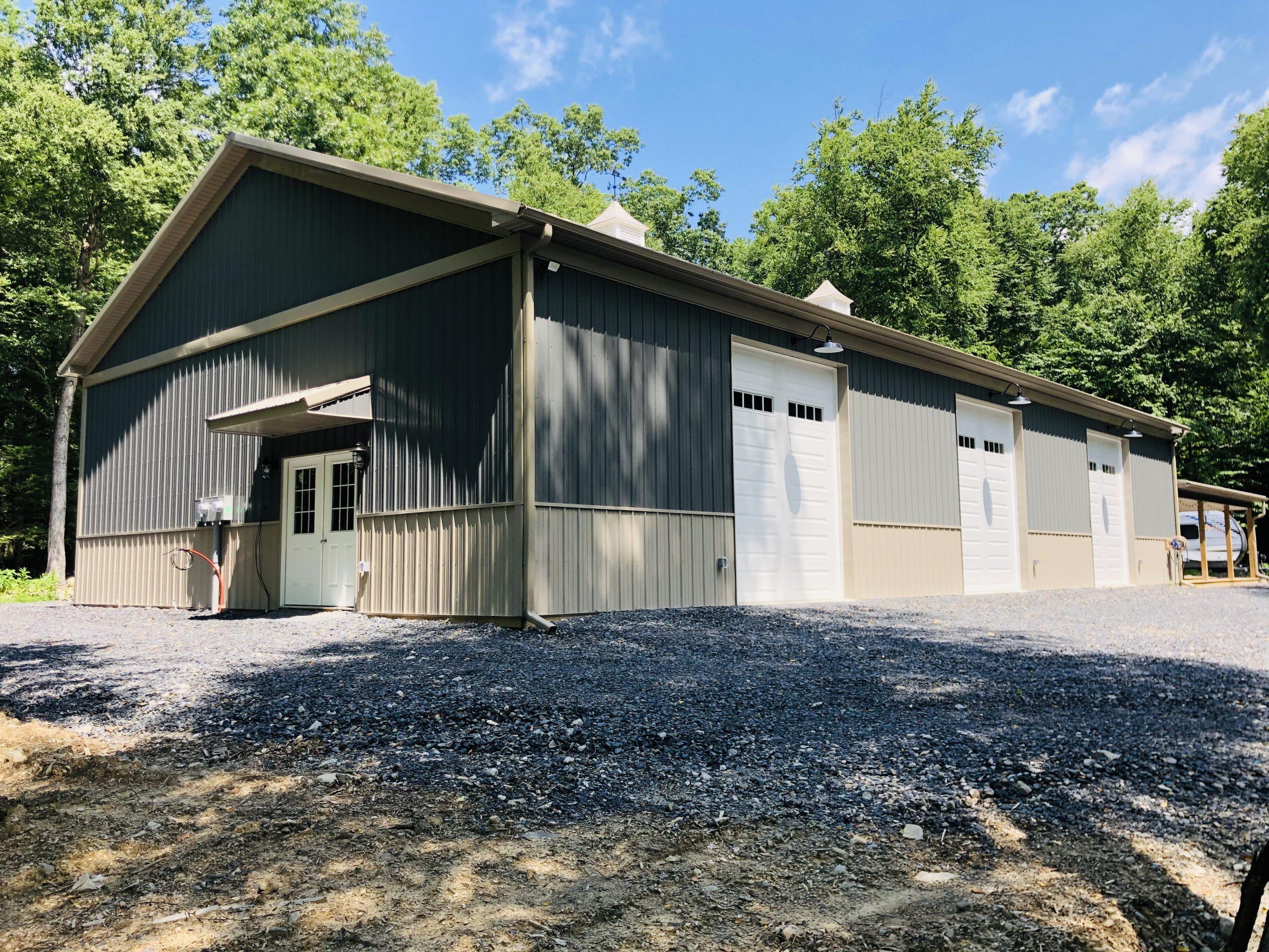 newly finished pole barn garage in stroudsburg pa