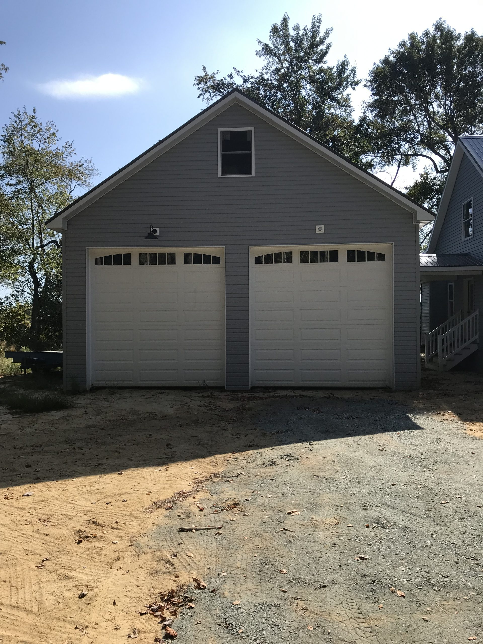 a-frame two car metal garage