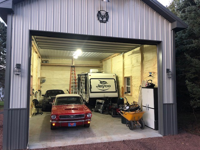 spacious completed pole barn garage